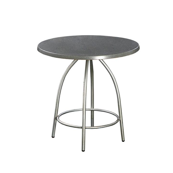 Partyrent : Mesa melamina gris y acero